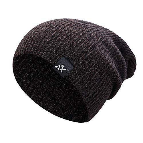 URIBAKE ❤ Unisex Baggy Beanies Hip-hop Knitted Hat Solid Winter Keep Warm Slouchy Ski Cap ()