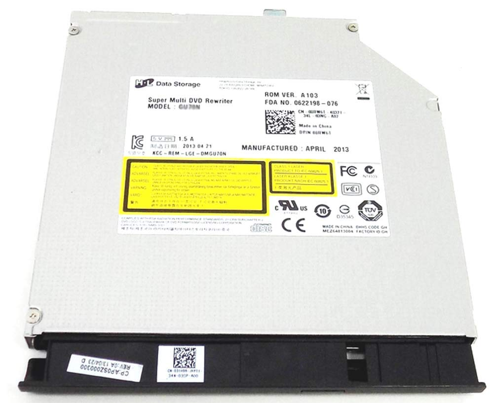 CD DVD Burner Writer ROM Player Drive for Dell Inspiron 15 3537 and 15 3521 Laptop Computer