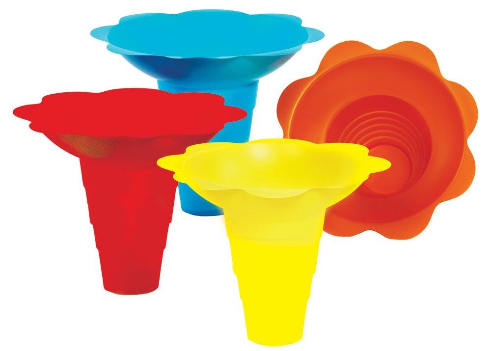 Paragon 12-Ounce SNO-Cone Flower Drip Tray Cups, Multicolor, 100-Cup Case