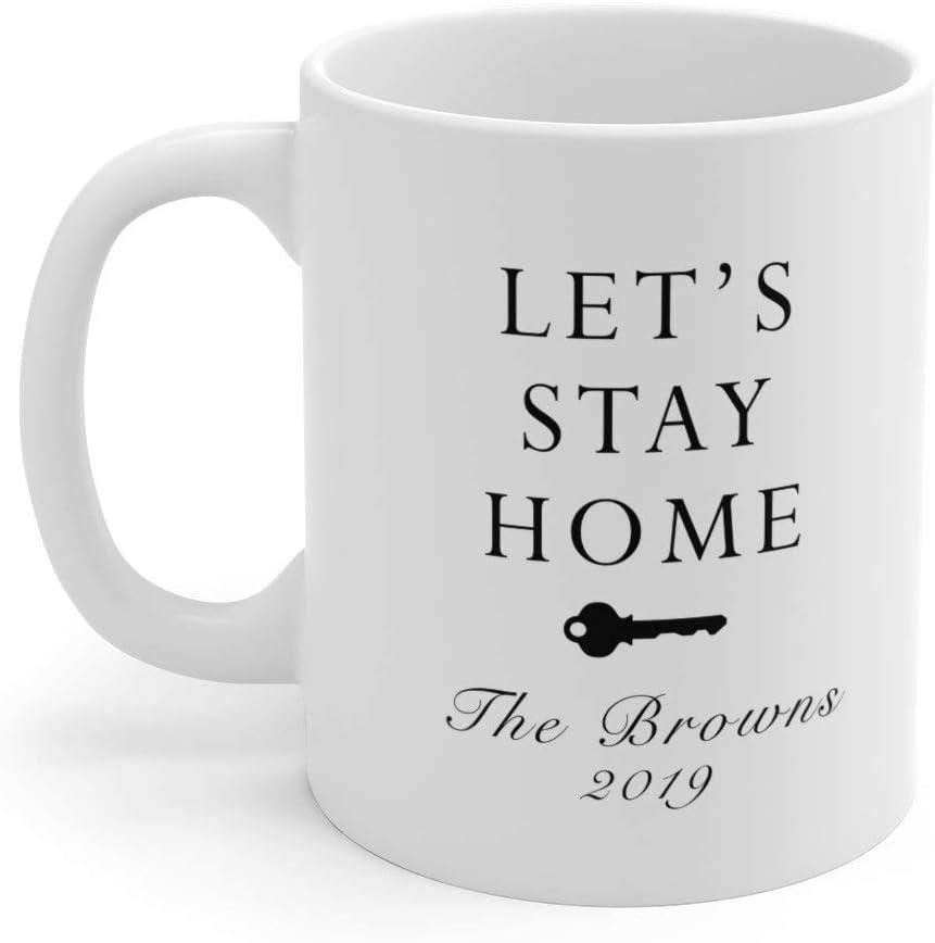 Let's Stay Home Mug, Custom Homeowner Mug, Housewarming Gift, New Homeowner Mug, Cute Home Mugs, Novelty Mug, Couple Mugs, Minimal Mug