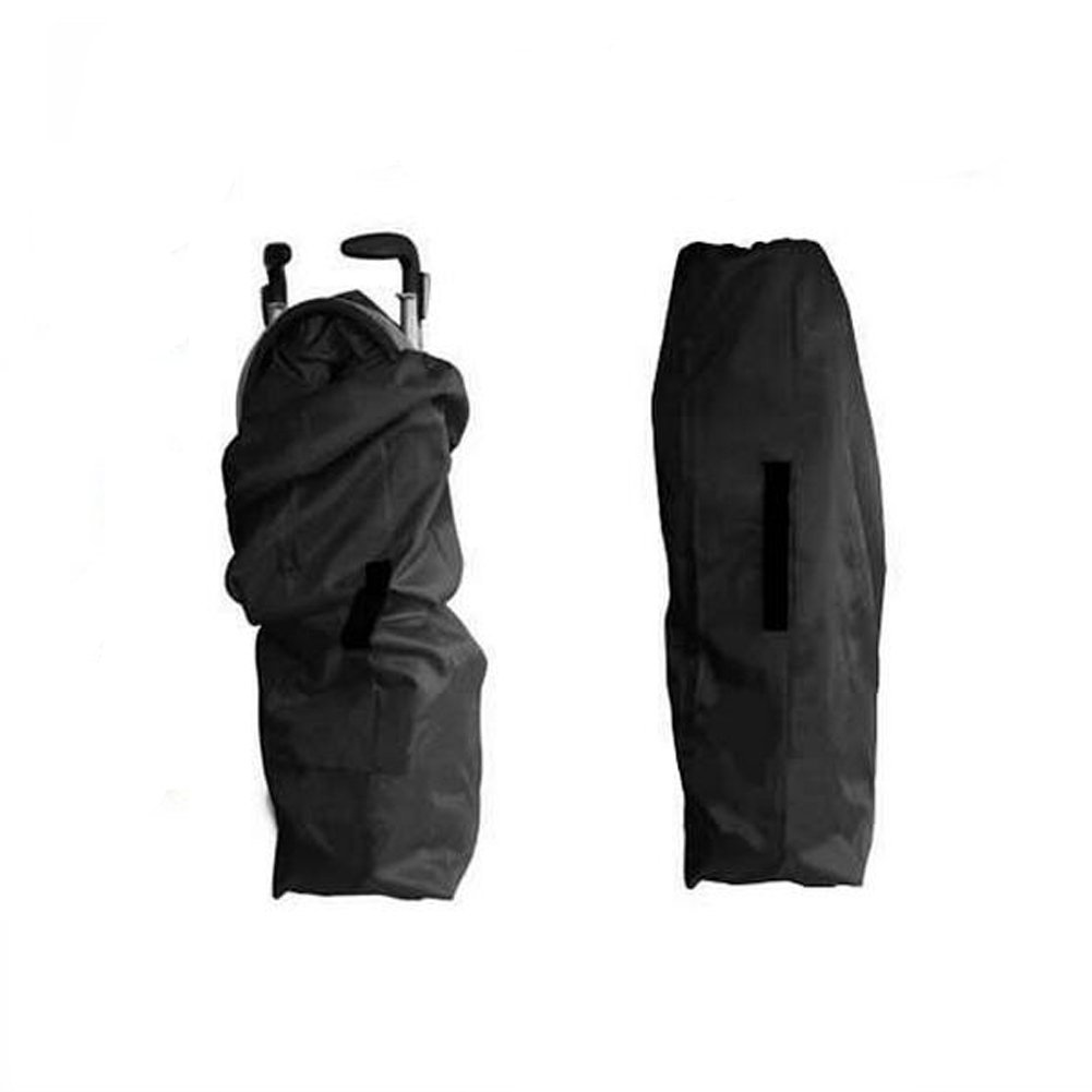 Yuccer Umbrella Stroller Travel Bag for Airplane with Shoulder Strap Infant Strollers Storage Waterproof Gate Check Bags Black Large (A)