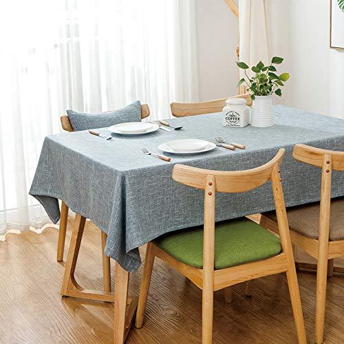 Nappe Rectangulaire Simple Maison Lin Tissu Bureau Décoration Cuisine Restaurant Café Pique-niquer Table De Fête Pur Coton De Couleur Chanvre 90  150cm F