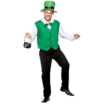 (XXL) Mens Lucky Leprechaun Costume for St. Patricku0027s Day Irish Fancy Dress Mans  sc 1 st  Amazon UK & XXL) Mens Lucky Leprechaun Costume for St. Patricku0027s Day Irish Fancy ...