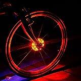 Cyborg LED Bike Wheel Hub Lights, Wasserdichte, einfach zu installieren,3 Modi Radfahren Bike Speichen Licht und Felgen Safety Warnung Licht. Magic Dekoration Licht Fahrrad Zubehör Beleuchtung