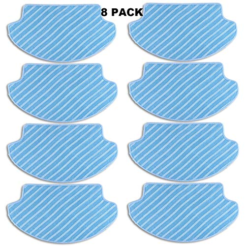 Replacement Mopping Cleaning Cloths for Ecovacs DEEBOT DN78(water tank version) DM80 DM80 Pro DM81 DM85S DM88 DR95 DR96 DR98 Slim Slim2 Robotic Vacuum Cleaner (Pack of 8) - Aunifun