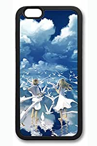 The Blue Sky White Clouds Boys And Girls Slim Soft Cover for iPhone 6 Plus Case ( 5.5 inch ) TPU Black Cases by lolosakes