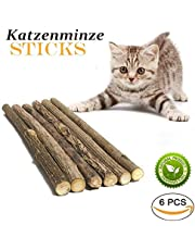 GoodGoodday Cat Catnip Stick, Matatabi Sticks 6 Pcs Dental Stick Natural Dental Care Cat Food Dry Catnip Sticks Toys Chew for Teeth Cleaning, Indoor Cat Toy for Healthy Teeth
