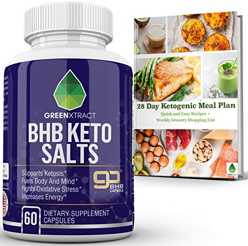 BHB Keto Salts, Carb Blocker Fat Burner Metabolism and Energy Booster, Appetite Suppressant Weight Loss Formula That Works Fast, Supports Ketosis Fights Oxidative Stress, for Men &Women, Bonus EBook
