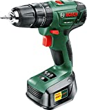 Bosch 06039A3370 PSB 1800 LI-2 Cordless Combi Drill with 18 V Lithium-Ion Battery - Green