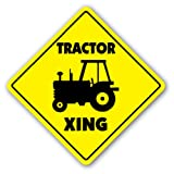 TRACTOR CROSSING Sign new xing farmer case farmall