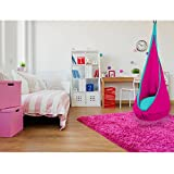 SAMAY Kids Hanging Hammock Pod Swing Chair Complete Set, Hot Pink, One Size