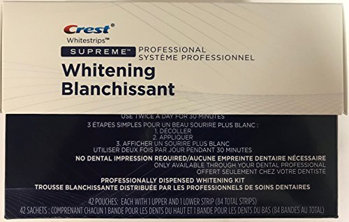 Crest Whitestrips Supreme Professional Strength 84 strips Personal Healthcare / Health Care