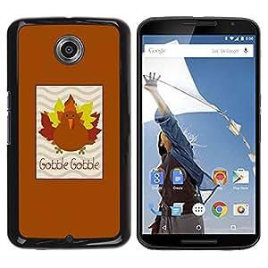 Paccase / SLIM PC / Aliminium Casa Carcasa Funda Case Cover para - Maple Autumn Brown - Motorola NEXUS 6 / X / Moto X Pro
