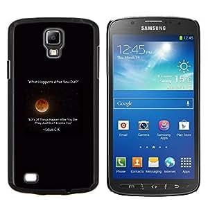 YiPhone /// Prima de resorte delgada de la cubierta del caso de Shell Armor - estrellas de la luna de pie cotización comediante Louis - Samsung Galaxy S4 Active i9295