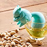 Drinkware & Tea Sets - Silicon Squirrel Tea Loose Leaf Strainer Filter Infer - Squirrel Tea Infer Orange Manatea Decodyne Fred Friends Funny Whimsical Kitchen Gadgets Ball - By - 1PCs
