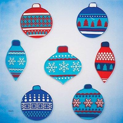 Design Ideas GelGems Christmas Themed Gel Window Clings (Blue Christmas, Large Bag)