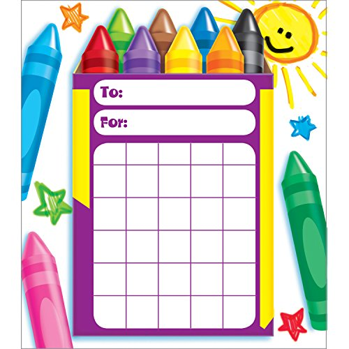 (TREND enterprises, Inc. Colorful Crayons Incentive Pad, 36 sheets)
