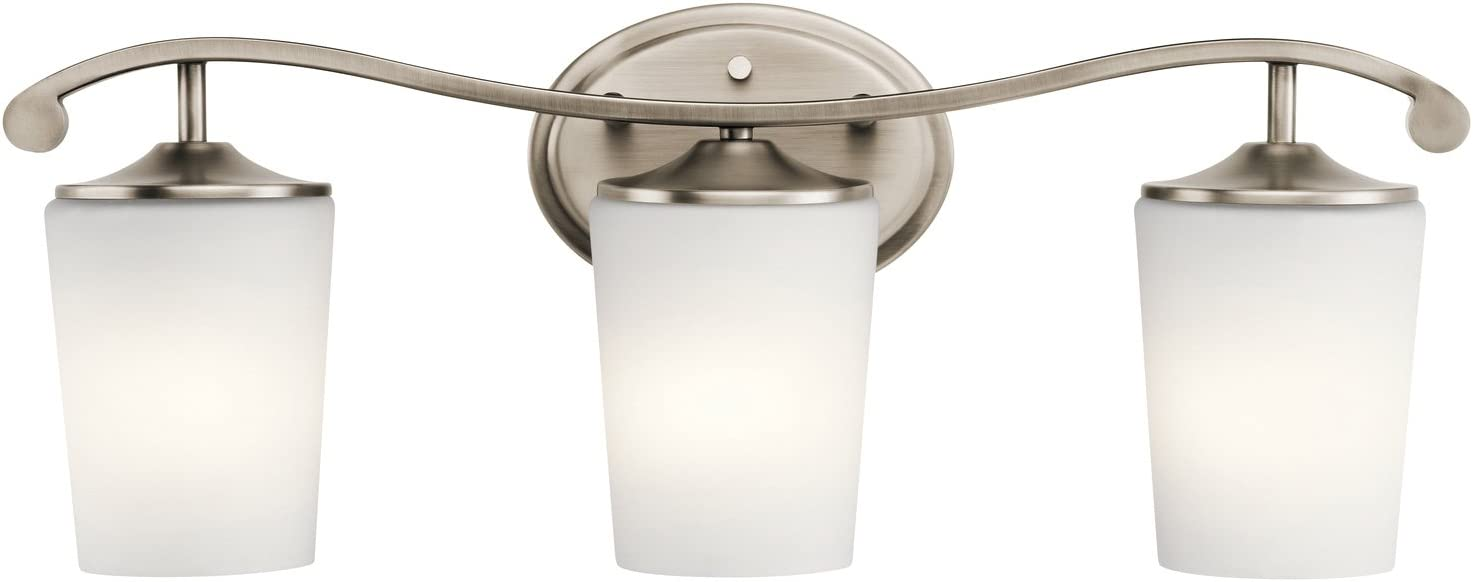 Justice Design Group CLD-8503-30-DBRZ Clouds Collection Argyle 3-Light Bath Bar Light Fixture