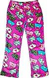 Little Girls & Big Girls Candy Pink Pajama Pants (10/12, Pink Hand bag pattern)