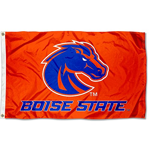College Flags and Banners Co. Boise State Broncos Orange Flag