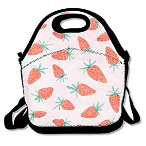JH SPEED Lunch Tote Bag So Many Strawberries Picnic Lunchbox Lunch Tote Insulated Reusable Container Organizer For, Adults, Kids