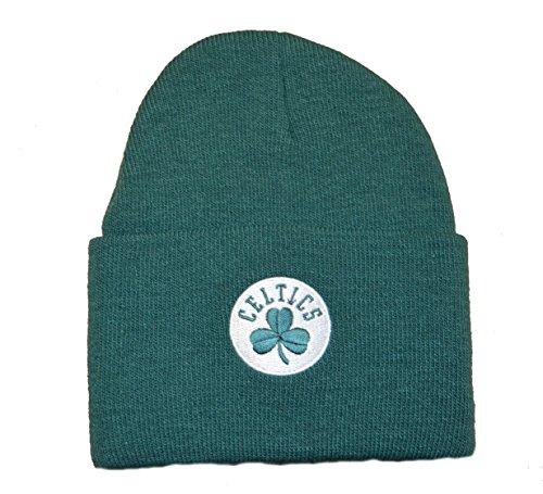 Boston Celtics Green Beanie Hat - NBA Cuffed Knit Toque Cap