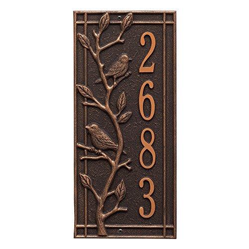 Customized Woodbridge Vertical Aluminum Address Plaque 16.5