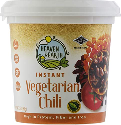 Heaven & Earth, Instant Vegetarian Chili Soup, Nutritious Meal in a Cup! 2.1oz (12 Pack)