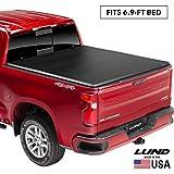 "Lund Genesis Tri-Fold Soft Folding Truck Bed Tonneau Cover | 95050 | Fits 2017 - 2020 Ford Super Duty 6' 9"" Bed"