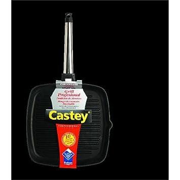 Castey - Grill Con Mango Inoxidable, 6Ig22 Inducction Line, 22X22 Cm.: Amazon.es: Hogar