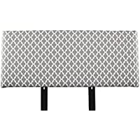 MJL Furniture Designs Alice Padded Bedroom Headboard Contemporary Styled Bedroom Décor, Fulton Series Headboard, Storm Finish, Queen Sized, USA Made