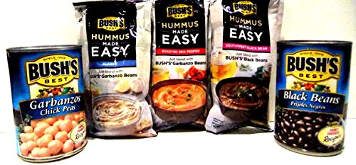 bushs-hummus-made-easy-variety-pack-2-cans-15-oz-of-bushs-beans-garbanzo-and-black-3-amazing-hummus-