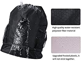 53d61ffc6d12 SKL Drawstring Bag Backpack with Ball Shoe Compartment Sport Gym Sackpack  String Bag for Men Women Soccer Basketball