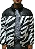 Versace Black and White Zebra Pattern Jacket with Logo (56-2XL)