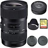 Sigma AF 18-35mm f/1.8 DC HSM Lens for Canon (210101) with Sigma USB Dock for Canon Lens and SanDisk Extreme 32GB SD Memory UHS-I Card w/ 90/60MB/s Read/Write