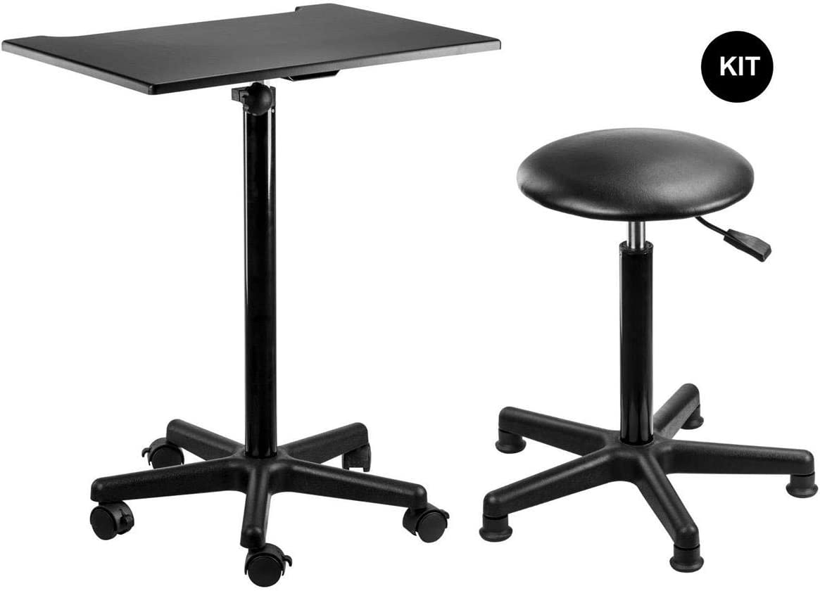 Flashpoint Photography Posing Table and Stool Kit, for Home or Studio
