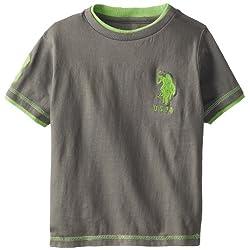 U.S. Polo Assn. Little Boys' Double Crew Jersey T-Shirt