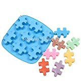 YingYing Molds Silicone Jigsaw Puzzle Sharped Candy Candle Mold Cake Decoration 7-cavity Mold Soap Mold