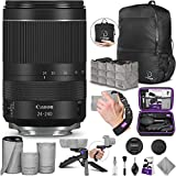 Canon RF 24-240mm f/4-6.3 is USM Lens with Altura Photo Essential Accessory and Travel Bundle