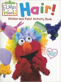 Hair Sticker Amp Paint Activity Book With Sticker Sesame