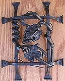 Agave Ironworks Grapevine Cluster Grilles Flat Black
