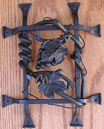 Agave Ironworks Grapevine Cluster Grilles Brown Rust