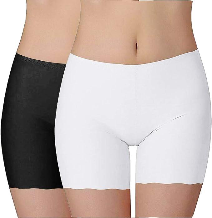 iMixCity Mujer Boxer Short Leggings Seamless Cortos Pantalon Seda ...