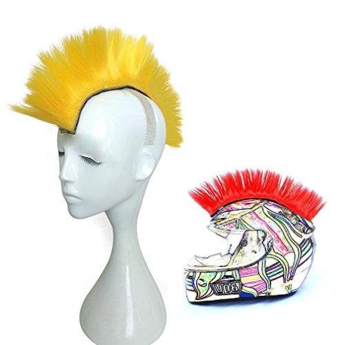 Namecute Skinhead Wig Yellow Helmet Mohawk Wig Costumes Hairpiece