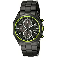 Citizen Eco-Drive HTM 2.0 Black Steel Men's Chronograph Watch