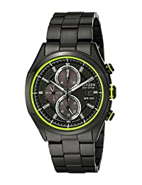 Citizen Men's CA0435-51E HTM 2.0 Eco-Drive Black Ion Plated Chronograph Watch