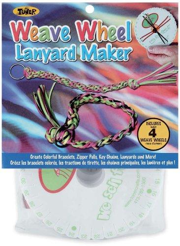 (Toner Plastics Weave 4-Pack Lanyard Maker Craft Wheel)