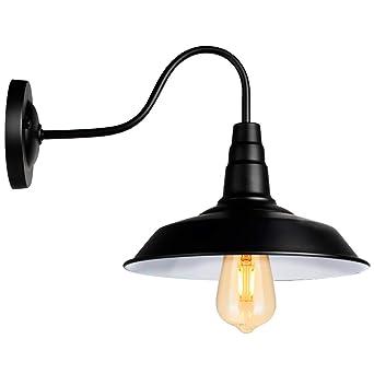 XL Rétro Noir Applique Éclairage Lumières Industriel Vintage Farmhouse  Applique Murale Led Lumière De Porche Pour