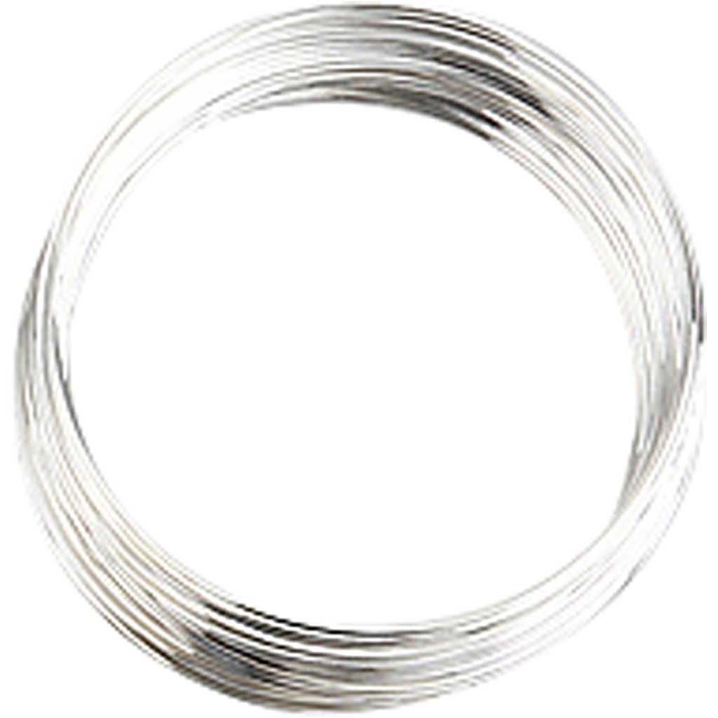 1ud plateado dia: 6 cm Memory Wire FS 11,5 m aprox grosor 0,8 mm