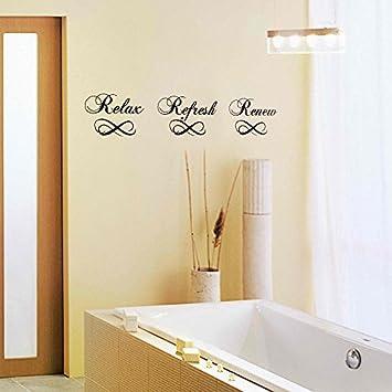 MairGwall Badezimmer Wand Aufkleber – Relax Refresh Renew ...